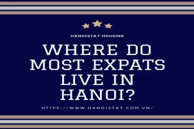 Where do most expats live in Hanoi?